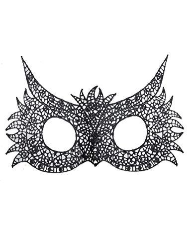Halloween Maske Frauen Schwarze Spitze Maske Augenmaske Party Ball Maskerade Kostüm Maske (größe : Owl)