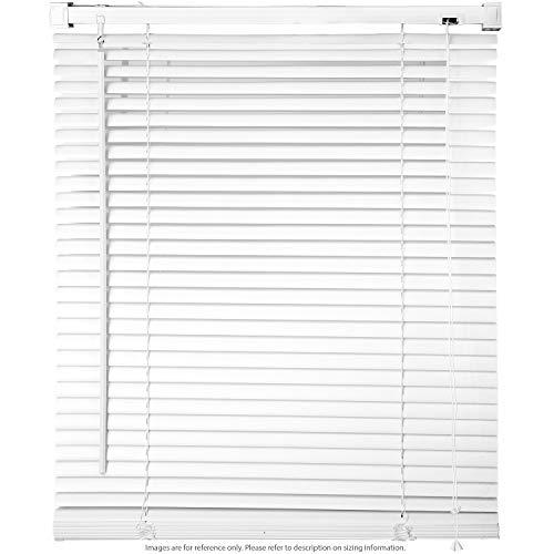 Biltek Jalousien für Fenster, PVC, Vinyl, horizontal, 71,1 x 162,9 cm, UV-Schutz, Weiß