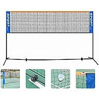 Red de tenis Marco de bádminton neto dispuesto niños Voleibol Tenis Fútbol Pickleball neto Set W / Acero Soporte independiente Tenis Fútbol neto Por tenis exterior ( Color : Blue , Size : 300x150cm )