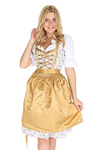 Dirndl in gold geblümt 5016 Gr. 48