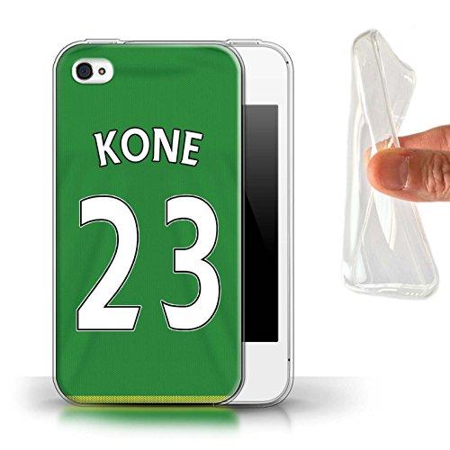 Offiziell Sunderland AFC Hülle / Gel TPU Case für Apple iPhone 4/4S / Pack 24pcs Muster / SAFC Trikot Away 15/16 Kollektion Kone
