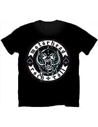 Motorhead Official Biker Badge Logo Rock Tee T-Shirt Top Clothing Mens Ladies Womens Unisex