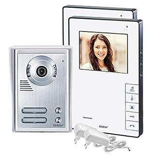 GEV  88337 2- Familienhaus Video-Türsprechanlage CVB, 1 Stück, silber/weiß
