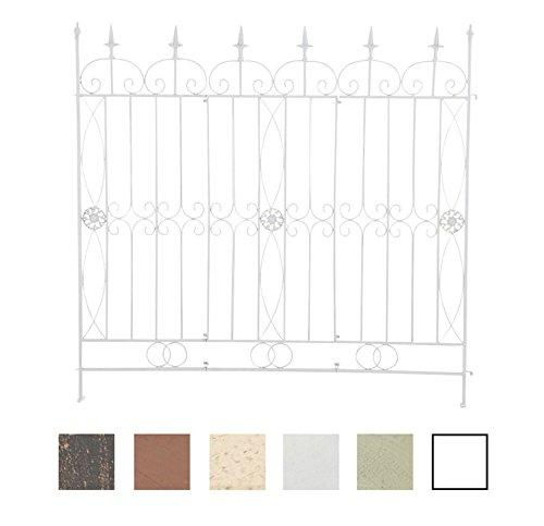 CLP Treillis de Jardin en Fer Mangold 125 x 115 cm – Bordure de Jardin Extensible – Clôture de Jardin – Plusieurs Couleurs au Choix : Blanc