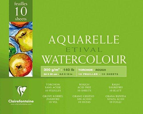 Clairefontaine Aquarellblöcke ETIVAL, rau/96561C 24x30cm rauh 250g