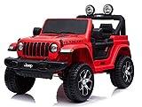 Cristom 4x4 électrique Jeep Wrangler Rubicon-télécommande Bluetooth (Rouge)