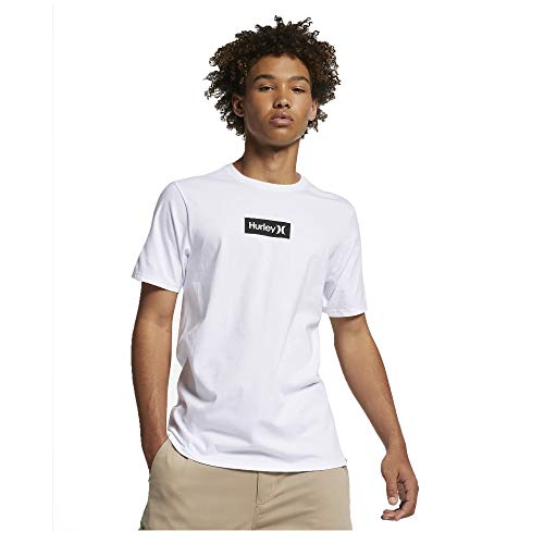 Hurley M PRM OAO Small Box tee Camisetas, Hombre, White, L