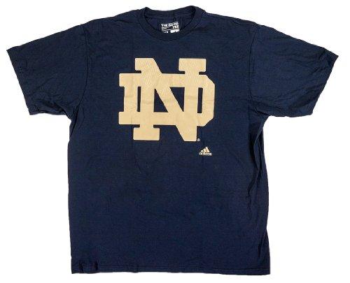 adidas NCAA College Football T-Shirt Notre Dame Fighting Fightin' Irish Navy Big Win (S)