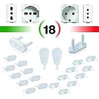 PUCICO Protector Enchufes para Bebes - 18 piezas + 2 llaves - Kit Seguridad Bebe Tapa Enchufes Proteccion para Niño Niña - Seguridad Anti Electricidad Proteccion Bebes Casa Cosas para Bebes Infantil