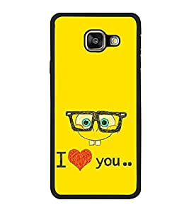 Fuson Designer Back Case Cover for Samsung Galaxy A3 (6) 2016 :: Samsung Galaxy A3 2016 Duos :: Samsung Galaxy A3 2016 A310F A310M A310Y :: Samsung Galaxy A3 A310 2016 Edition (comic bird with goggle specs chashma)