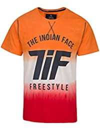THE INDIAN FACE Camiseta Manga Corta Naranja / Rojo / Blanco XL