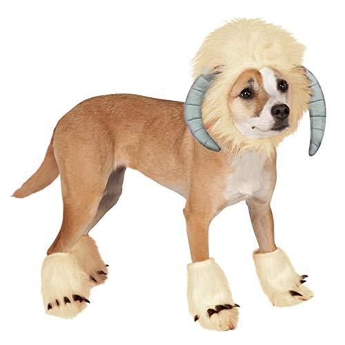 Den Für Kostüm Schaf Hunde - Balacoo Hunde Kostüm Schaf Kopfbedeckung Perücken Haustier Cosplay Fuß umfasst Kleidung Kostüm Größe s