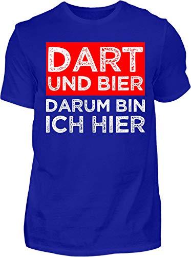 Kreisligahelden T-Shirt Herren Lustig Dart und Bier - Kurzarm Shirt Baumwolle mit Spruch Aufdruck - Hobby Freizeit Fun Dart Darts 180 (3XL, Anthrazit)