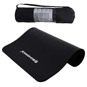 Songmics Tapis de Yoga 190 x 100 x 1,5 cm Grande Longueur Extra Épais NBR Gymnastique Pilates FYG51H