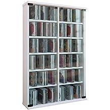 VCM Roma - Torre para CD/DVD, para 300 CDs, color Blanco,
