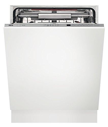 AEG FSE62800P Unterbau-Geschirrspüler/Energieklasse A++ (262 kWh pro Jahr)/mit Hebemechanismus ComfortLift/Einbaugeschirrspüler mit Restlaufzeit-Anzeige/Geschirrspülmaschine weiß/Edelstahl
