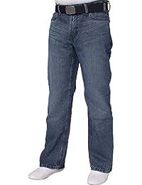 neuf avec étiquette NEUF pour hommes Duty Pantalon délavé foncé jeans ceinture Gratuite Taille Taille 28-42 fbm19 - délavé foncé, 44 Court