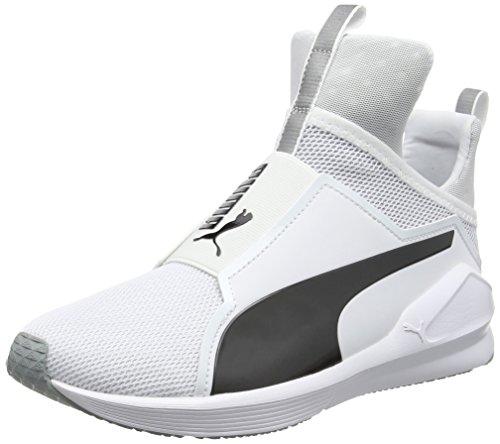 Puma Damen Fierce Core Sneakers, Weiß White Black 11, 40 EU (High-top Über)