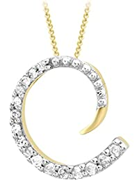 Carissima Gold Damen-Kette 375 1.44.4980 Rundschliff Diamant 13 mm