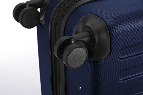 HAUPTSTADTKOFFER® Hartschalen Koffer SPREE 1203 · NEU 4 Doppel-Rollen · MATT · TSA Zahlenschloss · + KOFFERANHÄNGER (Set, Dunkelblau) - 8