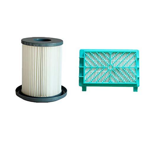 Meijunter 12cm Poussière Cartouche Filtre+Échappement Filtre Net for Philips FC8732/8733/8734/8736/8738/8740/8748