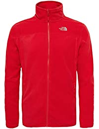 The North Face M 100 Glacier Full Zip Chaqueta, Hombre, Rojo (High Risk Red), XXL