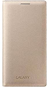 Friends Electronics Full Lether Flip Cover Gold Leather Back cover for Samsung Galaxy E7