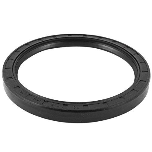 Lippe Oil (Schwarz Nitrilkautschuk Dual-Lippen Oil Seal Filter TC 115mm x 140mm x 14mm)