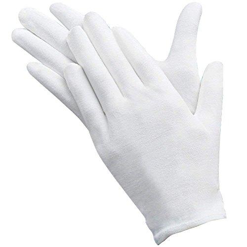 Handschuhe 12 Paar, Baumwolle Weiche Jersey-Handschuhe für atopische Dermatitis und Ekzeme, weiße Handschuhe zum Schutz der Hände ()