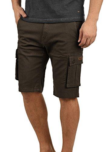 !Solid Laurus Herren Cargo Shorts Bermuda Kurze Hose aus 100% Baumwolle Regular Fit, Größe:M, Farbe:Coffee Bean (5973)