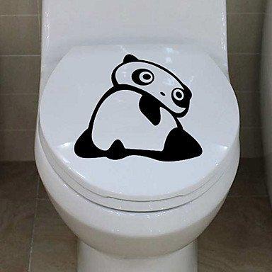 piteng- Stickers muraux Stickers muraux Naughty Panda de Salle de Bain Decor Papier peint en PVC Stickers muraux, jaune