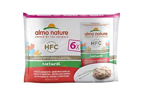 almo nature HFC Poulet et crevettes Humide Chat-6enveloppes