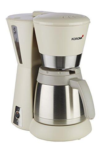 Korona 10225 Kaffeemaschine sand-grau/creme - Filter-Maschine, mit Thermoskanne, 8 Tassen, 800 Watt