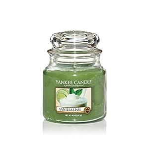 YANKEE CANDLE, Duftkerze im Glas, klein, Duft: Vanille, Limette