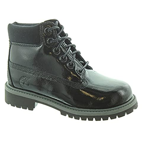 Timberland - Authentic 6 Inch Kids Lace Boots In Black Patent, 10 UK Child