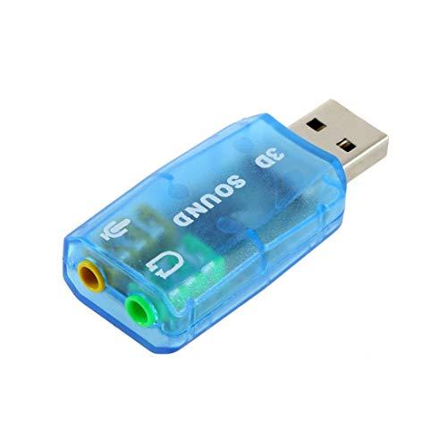 Scheda Audio 3D compatta Portatile USB 1.1 Adattatore Microfono/Altoparlante 7.1 Surround Surround CH per PC Computer Laptop ToGames-IT
