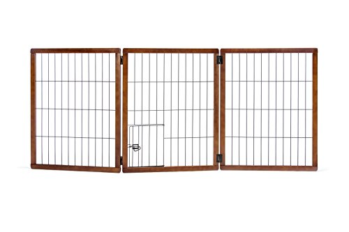 Carlson Pet Products 2866DS Design Paw Extra Hoch 3Panel Holz Gate (Panel Holz-tor)