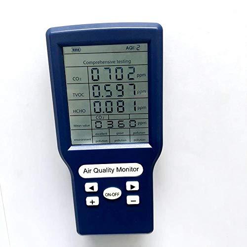 TOOGOO Detector de Calidad de Aire Digital 3 en 1 Detector de Formaldeh/íDo Port/átil Monitor Hcho Tvoc Calibraci/óN Inteligente Analizador de Gas Preciso