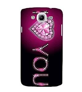 I Love You 3D Hard Polycarbonate Designer Back Case Cover for Samsung Galaxy Mega 5.8 I9150 :: Samsung Galaxy Mega Duos I9152