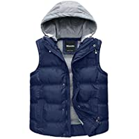 Wantdo Women's Cotton Padded Puffer Gilet Sleeveless Jacket with Removable Hood