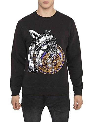 Felpe Designer Moda da Uomo, Top Vintage Rock, Felpa Metallica, Nera con Stampa DARK ANGEL, 100 Cotone Jersey, Girocollo, Manica Lunga, Tops Cool Urban Fashion Gothic Style per Uomo S M L XL XXL