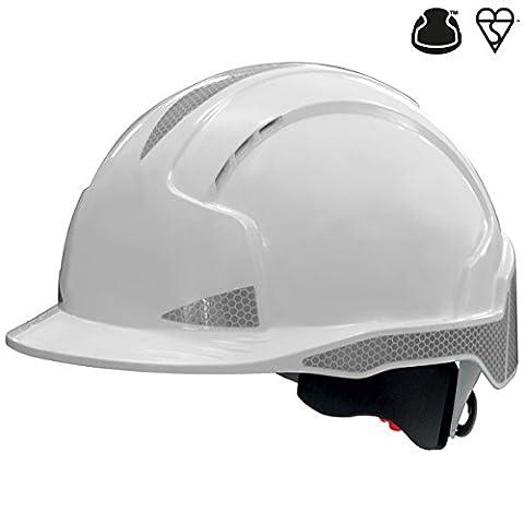 JSP AJB170-400-100 EVOLite CR2 Wheel Ratchet Helmet, Vented, White