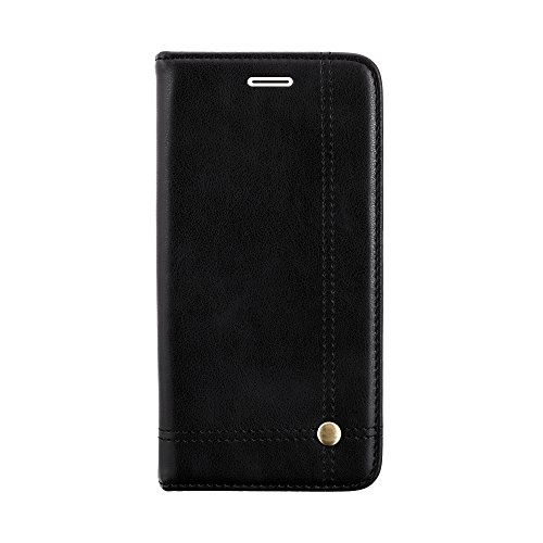 Verus Premium Hidden Magnet Close Leather Flip Wallet Case With Card Slot (inner Tpu) For Mi Max 2 - Black