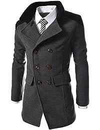 BYSTE Autunno Inverno Uomo Formale Doppio Petto capire Cappotto Giacca di  Lana Lungo Giacca Trincea Lungo eaed6f9141f