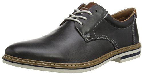 Rieker Herren B1411 Lace-Up-Men Derby Blau (lake/kastanie / 15)