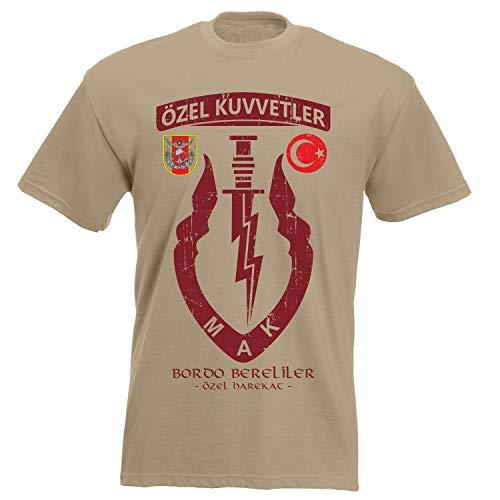 aprom Türkei Bordo Bereliler T-Shirt XX 046 (2XL) (Türkei Shirts)