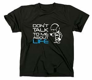 #2 Per Anhalter durch die Galaxis Marvin Robot Fun T-Shirt, 42, Hitchhiker, life, robot, S, schwarz