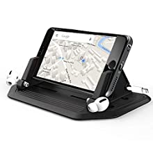 Leaflai Mobile Phone Holder for Car, Car Phone Holder Silicone Car Pad Mat for Various Dashboards, Anti-Slip Phone Car Cradles for Samsung, Huawei, iPhone, Smartphones, GPS Devices(Update Version)