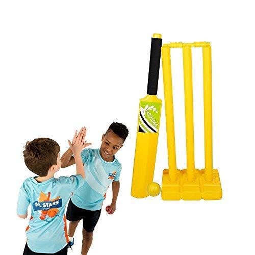 Kosma Cricket Crazy Cricket Einstellen | Cricket | Cricket | Cricket Spieler Kit | Kunststoff Cricket Set-in voller Größe (Cricket-spieler)