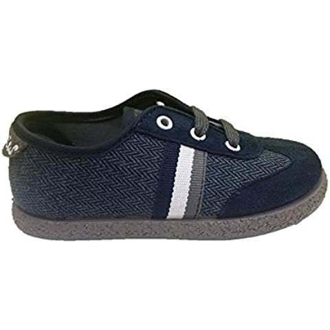 Cheiw 47100 - zapatillas infantil niño serraje pu marino / gallo vaquero